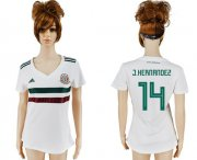Wholesale Cheap Women's Mexico #14 J.Hernandez Away Soccer Country Jersey