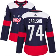 Wholesale Cheap Adidas Capitals #74 John Carlson Navy Authentic 2018 Stadium Series Women's Stitched NHL Jersey