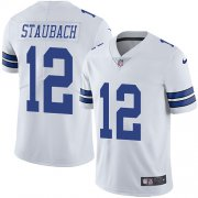 Wholesale Cheap Nike Cowboys #12 Roger Staubach White Youth Stitched NFL Vapor Untouchable Limited Jersey