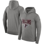 Wholesale Cheap Atlanta Falcons Nike Sideline Property of Performance Pullover Hoodie Gray
