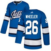 Wholesale Cheap Adidas Jets #26 Blake Wheeler Blue Alternate Authentic Stitched NHL Jersey