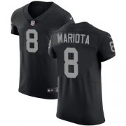 Wholesale Cheap Nike Raiders #8 Marcus Mariota Black Team Color Men's Stitched NFL Vapor Untouchable Elite Jersey
