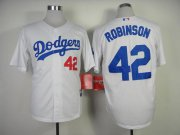 Wholesale Cheap Dodgers #42 Jackie Robinson White Cool Base Stitched MLB Jersey