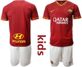 Wholesale Cheap Roma Blank Home Kid Soccer Club Jersey