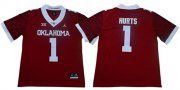 Wholesale Cheap Men's Oklahoma Sooners #1 Jalen Hurts Red Jordan Brand Limited New XII Stitched College Jersey