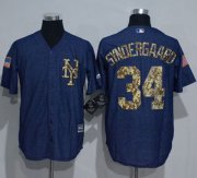 Wholesale Cheap Mets #34 Noah Syndergaard Denim Blue Salute to Service Stitched MLB Jersey