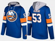 Wholesale Cheap Islanders #53 Casey Cizikas Blue Name And Number Hoodie