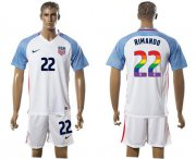 Wholesale Cheap USA #22 Rimando White Rainbow Soccer Country Jersey