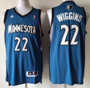 Wholesale Cheap Minnesota Timberwolves #22 Andrew Wiggins Revolution 30 Swingman Blue Jersey