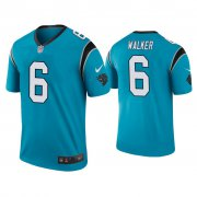 Wholesale Cheap Men's Carolina Panthers #6 P.J. Walker Color Rush Legend Blue Nike Jersey