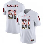 Wholesale Cheap Washington State Cougars 61 Cole Madison WhiteFashion College Football Jersey