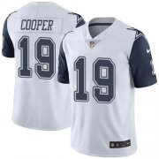 Wholesale Cheap Nike Cowboys #19 Amari Cooper White Men's Stitched NFL Limited Rush Jersey