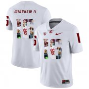 Wholesale Cheap Washington State Cougars 16 Gardner Minshew II White Fashion College Football Jersey