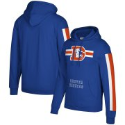 Wholesale Cheap Denver Broncos Mitchell & Ness Three Stripe Pullover Hoodie Royal