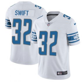 Wholesale Cheap Nike Lions #32 D\'Andre Swift White Youth Stitched NFL Vapor Untouchable Limited Jersey
