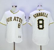 Wholesale Pirates #8 Willie Stargell White Flexbase Authentic Collection Stitched Baseball Jersey