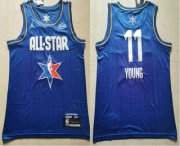 Wholesale Cheap Men's Atlanta Hawks #11 Trae Young Blue Jordan Brand 2020 All-Star Game Swingman Stitched NBA Jersey