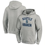 Wholesale Cheap Seattle Kraken Victory Arch Pullover Hoodie Heather Gray