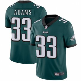 Wholesale Cheap Nike Eagles #33 Josh Adams Midnight Green Team Color Men\'s Stitched NFL Vapor Untouchable Limited Jersey