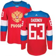 Wholesale Cheap Team Russia #63 Evgenii Dadonov Red 2016 World Cup Stitched NHL Jersey