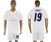 Wholesale Cheap Real Madrid #19 Modric Marine Environmental Protection Home Soccer Club Jersey