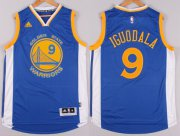 Wholesale Cheap Golden State Warriors #9 Andre Iguodala Revolution 30 Swingman 2014 New Blue Jersey