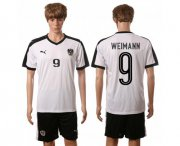 Wholesale Cheap Austria #9 Weimann White Away Soccer Country Jersey