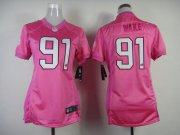 Wholesale Cheap Nike Dolphins #91 Cameron Wake Pink Women's Be Luv'd Stitched NFL New Elite Jersey