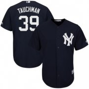 Wholesale Cheap Yankees #39 Mike Tauchman Navy Blue New Cool Base Stitched Youth MLB Jersey