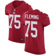 Wholesale Cheap Nike Giants #75 Cameron Fleming Red Alternate Men's Stitched NFL New Elite Jersey