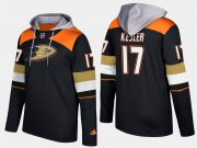 Wholesale Cheap Ducks #17 Ryan Kesler Black Name And Number Hoodie
