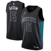 Wholesale Cheap Nike Charlotte Hornets #5 Nicolas Batum Black NBA Jordan Swingman City Edition Jersey