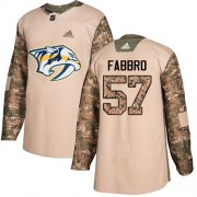 Wholesale Cheap Adidas Predators #57 Dante Fabbro Camo Authentic 2017 Veterans Day Stitched Youth NHL Jersey