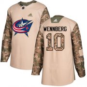 Wholesale Cheap Adidas Blue Jackets #10 Alexander Wennberg Camo Authentic 2017 Veterans Day Stitched Youth NHL Jersey
