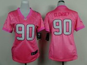Wholesale Cheap Nike Texans #90 Jadeveon Clowney Pink Women's Be Luv'd Stitched NFL New Elite Jersey
