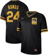 Wholesale Cheap Nike Pirates #24 Barry Bonds Black Authentic Cooperstown Collection Stitched MLB Jersey
