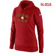 Wholesale Cheap Women's Nike Pittsburgh Steelers Heart & Soul Pullover Hoodie Red