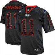 Wholesale Cheap Nike Patriots #11 Julian Edelman New Lights Out Black Men's Stitched NFL Elite Jersey