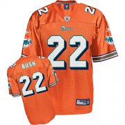 Wholesale Cheap Dolphins #22 Reggie Bush Orange Stitched NFL Jersey