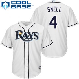 Wholesale Cheap Rays #4 Blake Snell White Cool Base Stitched Youth MLB Jersey