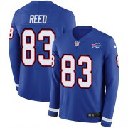 Wholesale Cheap Nike Bills #83 Andre Reed Royal Blue Team Color Men's Stitched NFL Limited Therma Long Sleeve Jersey