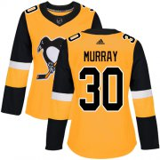 Wholesale Cheap Adidas Penguins #30 Matt Murray Gold Alternate Authentic Women's Stitched NHL Jersey
