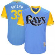 "Wholesale Cheap Rays #39 Kevin Kiermaier Light Blue ""Outlaw"" Players Weekend Authentic Stitched MLB Jersey"