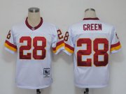 Wholesale Cheap Mitchell And Ness Redskins #28 Darrell Green White Stitched NFL Jersey