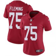 Wholesale Cheap Nike Giants #75 Cameron Fleming Red Alternate Women's Stitched NFL Vapor Untouchable Limited Jersey