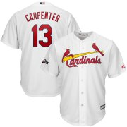 Wholesale Cheap St. Louis Cardinals #13 Matt Carpenter Majestic 2019 Postseason Official Cool Base Player Jersey White