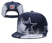 Wholesale Cheap Cowboys Team Logo Navy White Adjustable Hat YD