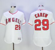 Wholesale Cheap Angels of Anaheim #29 Rod Carew White Flexbase Authentic Collection Stitched MLB Jersey