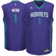 Wholesale Cheap Men's Charlotte Hornets #1 Malik Monk adidas Purple 2017 NBA Draft Pick Replica Jersey