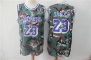 Wholesale Cheap Lakers 23 Lebron James Camo 2018-19 Hardwood Classics Jersey